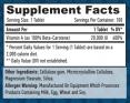 Natural Beta Carotene 20,000 IU / 100 Tabs.