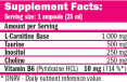 CarniSlim ® Lipotropic 1 Fiola