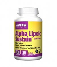 Jarrow Formulas Alpha Lipoic Sustain + Biotin / 30 Tabs.