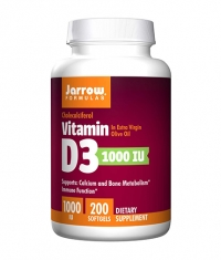 Jarrow Formulas Vitamin D3 1000IU / 200 Soft.