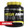 BIOTECH USA Mega Amino 3200 / 500 Tabs.