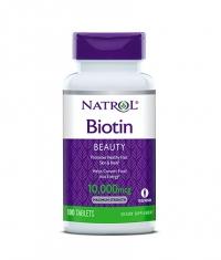 NATROL Biotin Maximum Strength 10,000 mcg. / 100 Tabs.
