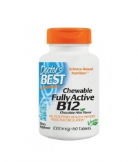 DOCTOR'S BEST Chewable Fully Active B12 / 60 Tabs.