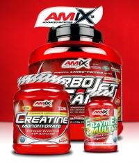 PROMO STACK Amix CarboJet Gain 5lbs. + Amix Creatine Monohydrate Powder 500g. + EnzymEx 90 Caps.