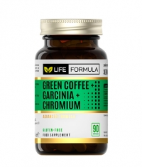 LIFE FORMULA Green Coffee + Garcinia + Chromium / 90 Caps.
