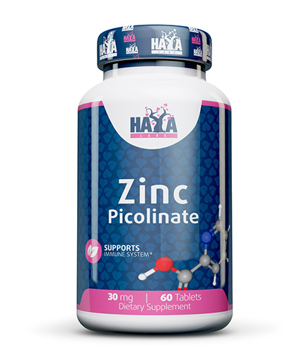 HAYA LABS Zinc Picolinate 30 mg. / 60 Caps.