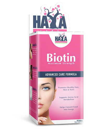 HAYA LABS Biotin Maximum Strength 10,000 mcg. / 100 Tabs.