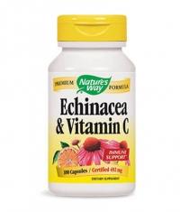 NATURES WAY Echinacea & Vitamin C 100 Caps.