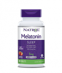 NATROL Melatonin 5mg /Strawberry/ 90 Tabs