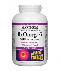 NATURAL FACTORS RX Omega 3 Extra Strength 900mg. / 150 Soft.