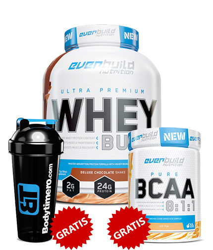 promo-stack Proteina + BCAA + SHAKER [1+2 gratis]
