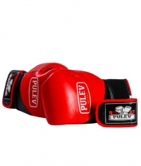PULEV SPORT Red Boxing Gloves w/ Velcro