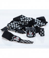 PULEV SPORT Hand Wraps / Black with Skulls