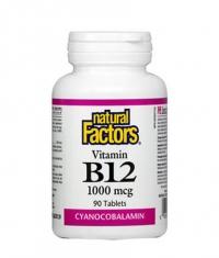 NATURAL FACTORS Vitamin B12 (Cyanocobalamin) 1000mcg. / 90 Tabs.