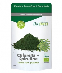 BIOTONA Chlorella + Spirulina 100% Raw Powder