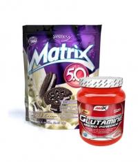 PROMO STACK Syntrax Matrix 5 Lbs. / Amix Glutamine 500g