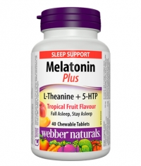 WEBBER NATURALS Melatonin Plus with L-Theanine + 5-HTP / 40ChewTabs.