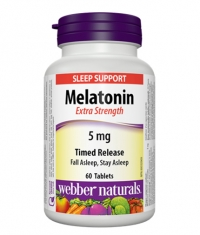 WEBBER NATURALS Melatonin Extra Strength 5mg Timed Release / 60Tabs.