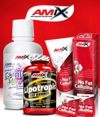 PROMO STACK Amix No Fat & Cellulite Gel 200ml. + Amix Lipotropic Fat Burner 200 Caps. + Amix CarniLine Proactive 480ml