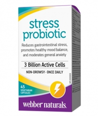 WEBBER NATURALS Stress Probiotic 3 Billion / 45Vcaps.