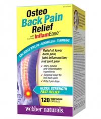 WEBBER NATURALS Osteo Back Pain Relief with InflamEase / 120Vcaps.