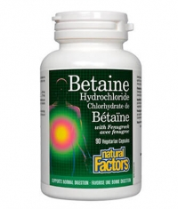 NATURAL FACTORS Betaine HCL 500mg / 90 V-caps