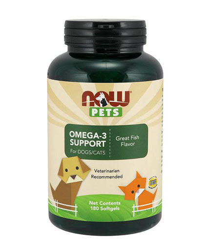 NOW PETS Omega-3 Support / 180 Caplets