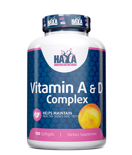 HAYA LABS Vitamin A & D / 100 Softgels
