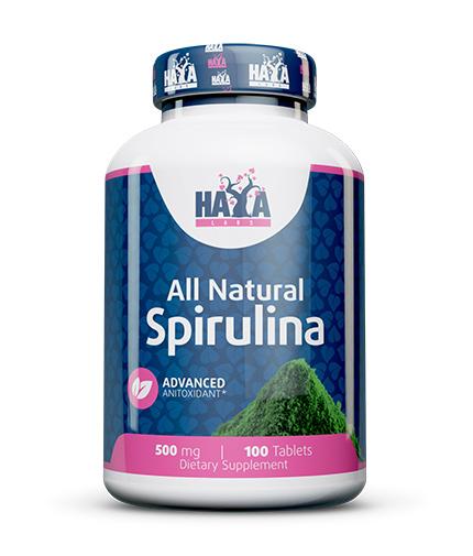 haya-labs All Natural Spirulina 500mg. / 100 Vtabs.