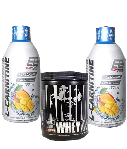 promo-stack Carnitine + Whey (Cu arome selectate)