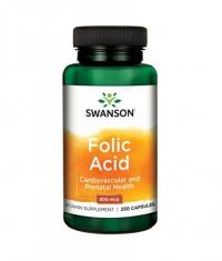 SWANSON Folic Acid 800mcg. / 250 Caps.