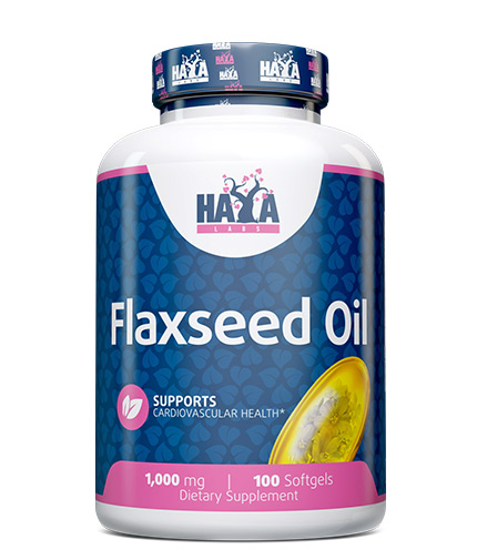 haya-labs Flax Seed Oil Organic 1000mg. / 100 Softgels