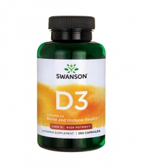 SWANSON Vitamin D3 - High Potency 1000IU / 250 Caps