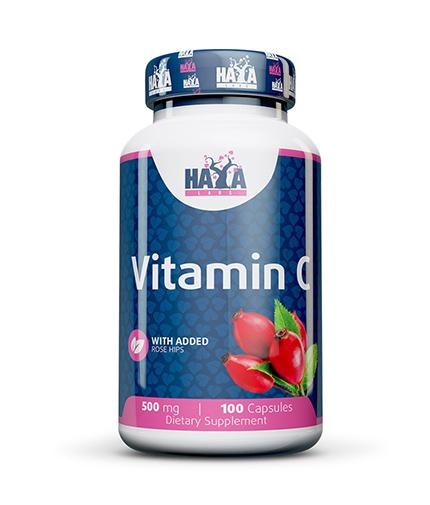haya-labs Vitamin C with Rose Hips 500mg / 100 Caps.