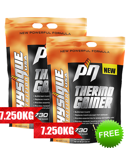 promo-stack Thermo GAINER 1+1 (14,5 Kg) FREE