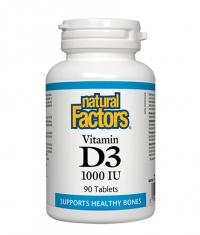 NATURAL FACTORS Vitamin D3 1000iu / 90tabs