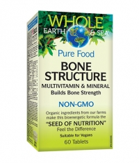 NATURAL FACTORS Whole Earth & Sea Bone structure / 60 Tabs