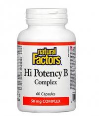 NATURAL FACTORS Hi Potency B Complex / 60 Caps