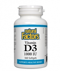 NATURAL FACTORS Vitamin D3 1000 IU / 360 Softgels
