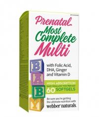 WEBBER NATURALS Prenatal Most Complete Multi / 60 Softg.