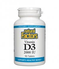 NATURAL FACTORS Vitamin D3 2000 IU / 90 Tabs
