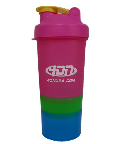 4dn Shaker Bottle Pink Green 400ml.