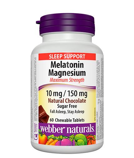 webber-naturals Melatonin Magnesium / 60 Chewable tabs