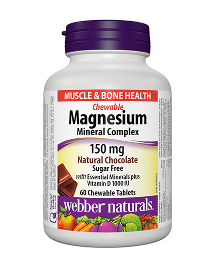 webber-naturals Magnesium Mineral Complex 150mg. / 60 Chewable tabs