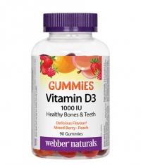 WEBBER NATURALS Vitamin D3 Gummies 1000 IU / 90 Gummies
