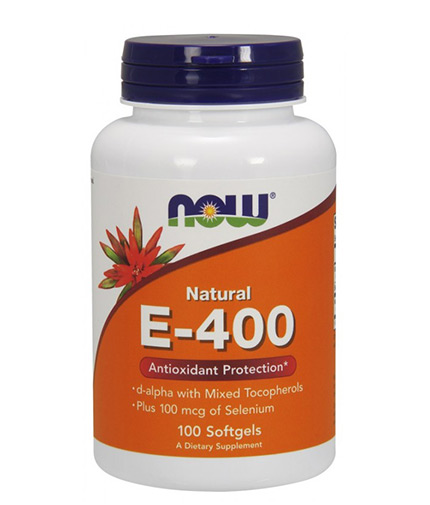now Vitamin E-400 IU + Selenium / 100 Softgels