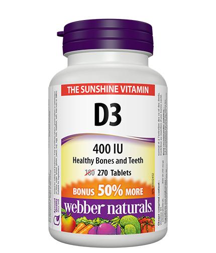 webber-naturals Vitamin D3 400 IU / 270 Tabs