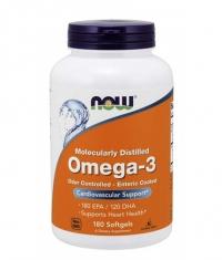 NOW Omega-3 Enteric Coated / 180 Softgels