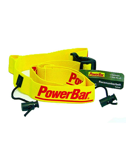 powerbar Race Number Belt / Yellow