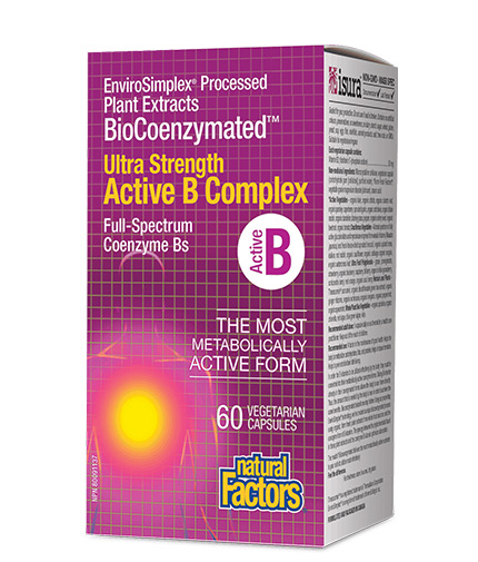 natural-factors Active B Complex Ultra Strength BioCoenzymated / 60 Vcaps